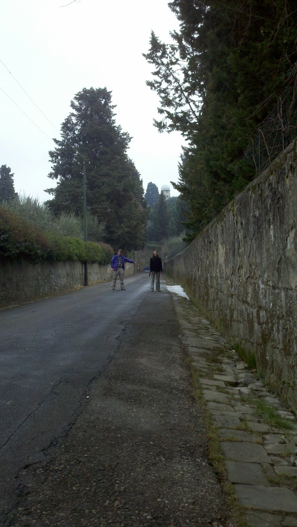 Laird and Katie on the walk to Arcetri