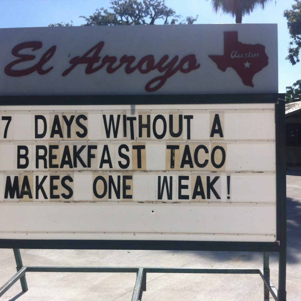 On Central Texas and Breakfast Tacos